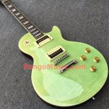 Pango Lp Standard Electric Guitar with Flame Maple Top in Light Green Color (PLP-025)