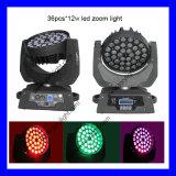 LED Zoom Moving 36PCS Rgbwmoving Head Lights