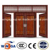 4 Doorleaf Big Size Exterior Metal Security Steel Door (W-SD-05)
