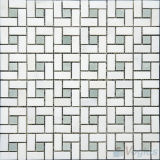 Polished Pinwheel Carrara White Marble Tiles Mosaic (VS-PPWA92)