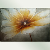 Canvas Floral Painting with Big Yellow Flower (LH-211000)