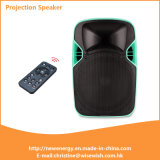 Popular 12 Inches Plastic Loudspeaker with LED Projector and Screen