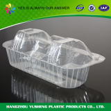 Disposable Plastic Cake Box with Transparent Hinged Lid