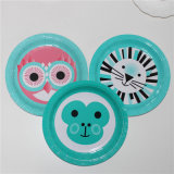 """Cute Animal Printing Paper Plate 7"""" for Children"""