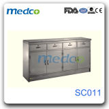 Medical Steel Storage Wardrobe Furniture, Stainless Steel Hospital Cupboard