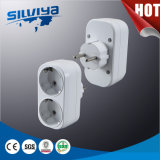 2 Gang Plug Adapters with European Standard
