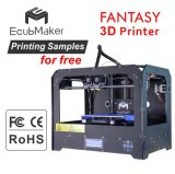Ecubmaker Fantasy LED Beautiful 3D Printer with Free Sample
