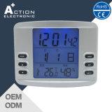 LCD Jjy Radio Controlled Digital Alarm Clock with Temperature Humidity