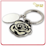 Custom Flower Shape Soft Enamel Metal Keychain
