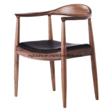 Wood Restaurant Cow Horn Chair with Backrest and Armrest