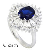Fashion Jewelry Sapphire CZ Rings 925 Silver Cocktail Ring