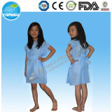 Disposable Nonwoven PP SMS PP+PE Child′s Patient Gown