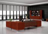 Luxury 2.2m L-Shape Office Teak Color Table Executive Desk (HF-FB15032)