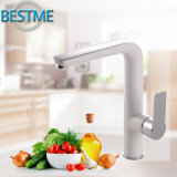 White Color Painted Brass Modern Kitchen Mixer Faucet