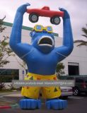 Inflatable Advertising Blue Gorilla Monkey Model for Festival Promotion