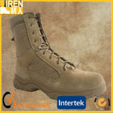 Breathable and Durable Suede Cow Leather Cheap Price Military Tactical Desert Boot with Ykk Zipper