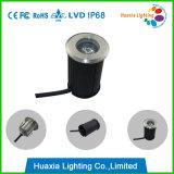 3W Waterproof LED Underground Light, RGB Inground Light, Deck Light