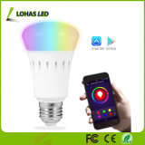 WiFi Controlled Multicolored Color Changing RGBW Dimmable E26 9W APP Smart LED Bulb