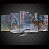 HD Printed Jungle Two Antelope Painting Canvas Print Room Decor Print Poster Picture Canvas Mc-010