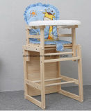 Solid Wood Children Dining High Chair (M-X3062)