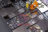 Crystal and Metal Mixed Stainless Steel Glass Mosaic Tile (CFM763)