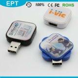 Plastic Epoxy Logo Slide Square Shape USB Flash Drive (TT063)