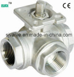 3 Way Female Thread Ball Valve with ISO5211