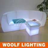Living Room LED Lighting Corner Straight Sofa Set