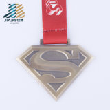 50-10mm Zinc Alloy Casting Custom 2016 Superman Logo Metal Marathon Medal or Medallion