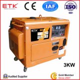 Soundproof Air Cooled Silent Single Cylinder Small Diesel Generator Set (CE&ISO9001)
