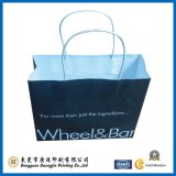 Black Color Kraft Paper Gift Bag with Paper Twisted Handle