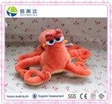 Cartoon Marine Animal Orange Octopus Plush Toy