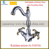 Sanitary Ware Double Cross Handle Kitchen Faucet