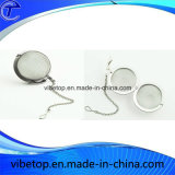Stainless Steel Mesh Tea Ball Mesh with Chain (TB-V016)
