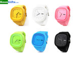 Custom Design Changeable Face Silicone Jelly Watch with Cheaper Price