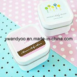 Romantic Square Scented Tin Candles as Wedding Gift