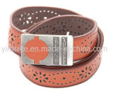 New Model Factory Man Waistband Embossed Logo Exotic Leather Belt