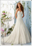 2016 Lace Beaded Strapless Bridal Wedding Dress Wd5404