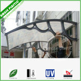 Fixted PC Door Awning/Balcony Window Awning with Aluminum / Plastic Brackets