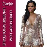 Fashion Sequin Dress and Jumpsuit Ladies Clothing Sets (L55206-1)