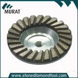125mm Diamond Grinding Wheels/ Turbo Aluminum Back Cup Grinding Wheel