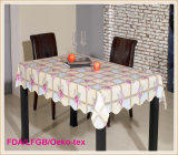Rectangle Plastic Printed Table Cloth Hot Sale