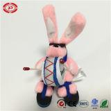 Plush Animal Wearing Glass Crazy Rocking Pink Tiny Rabbit Toy
