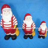 Ceramic Christmas Santa Claus Carrying Gift Bags