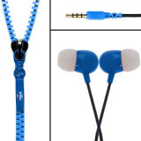 in Ear Shine Headphone Zipper Earphone