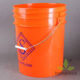 20L Coloured Plastic Bucket with Lid and Handle