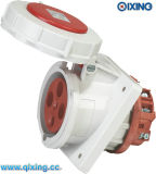IP67 4p Angle Mounted Female Socket for Industry (QX205)