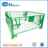 Stackable Padlock Steel Cages Pallet with Wooden Pallet