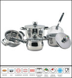 9PCS Stainless Steel Wide Edge Cookware Set