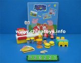 Promotional Toys Soft Plastic Pig with Cashier Desk (926221)
